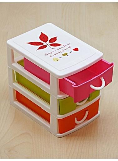 Kitchen Love Akrilik 3 Çekmeceli Organizer Renkli